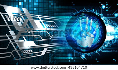 Magnifying Glass scanning and identifying a computer virus. Antivirus protection security concept. PC. scan. technology digital website internet web. scanning. Hand print. cyber