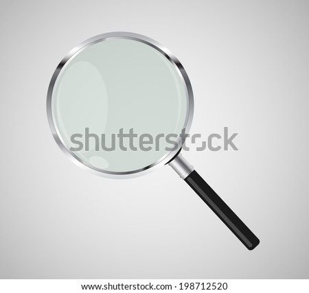 Magnifying Glass Search Icon  Illustration.