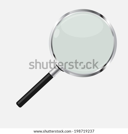 Magnifying Glass Search Icon  Illustration. .