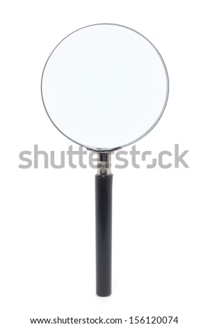 Magnifying lens isolated with clipping path over white