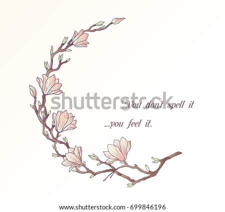 Magnolia floral circle frame template stock illustration 699846196 magnolia floral circle frame template maxwellsz