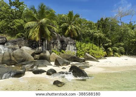 Mahe island, Seychelles - stock photo