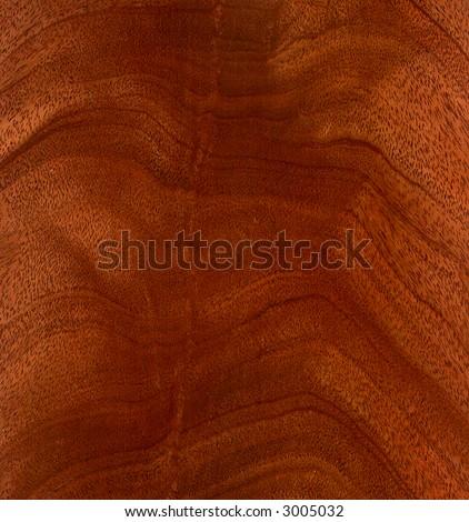 mahogany veneer - stock photo