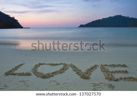 Mai ngam beach in Surin Islands national park in Phang Nga, Thailand - stock photo