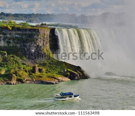 Maid of the Mist at Niagara Falls, USA - stock photo