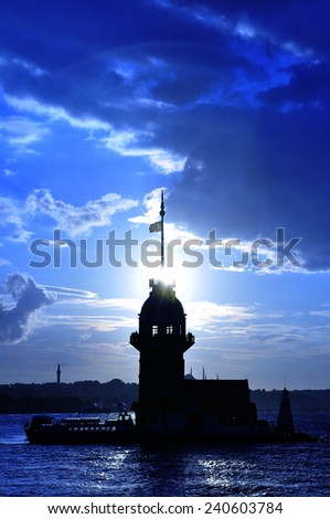 maiden tower - stock photo