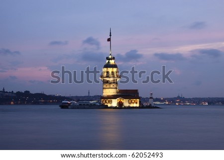 Maidens Tower Istanbul - stock photo