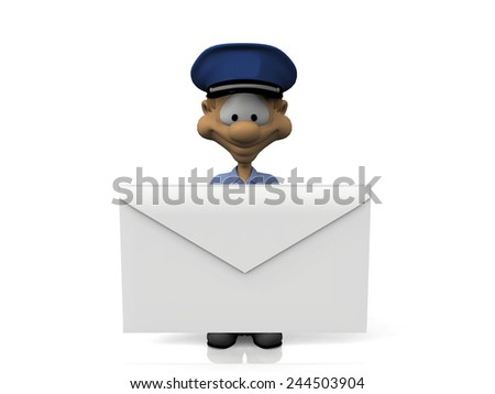 mail and the factor - stock photo