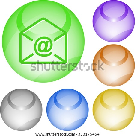 mail at-sign. Raster interface element. - stock photo