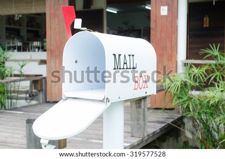 mail box on the shop - stock photo