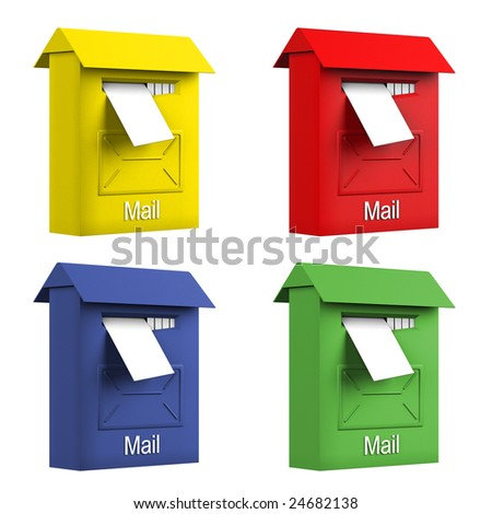 Mail boxes - stock photo