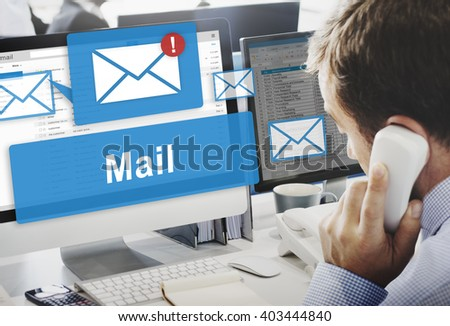 Mail Communication Connection Global Letters Concept - stock photo