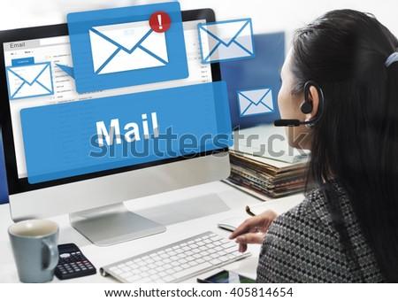 email marketing concept stock illustration 338236172. Black Bedroom Furniture Sets. Home Design Ideas