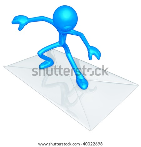 Mail Email Surfing - stock photo