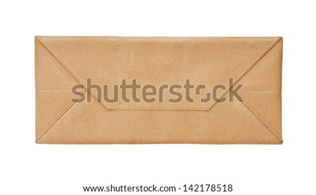 mail envelope isolated on white background