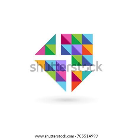 Mail Envelope Logo Icon Design Template Stock Illustration - Mail envelope template