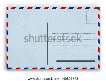 Mail envelope. Raster version of vector illustration