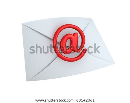 Mail Envelope with E-mail Sign