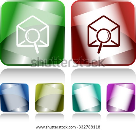 mail find. Internet buttons. Raster illustration. - stock photo