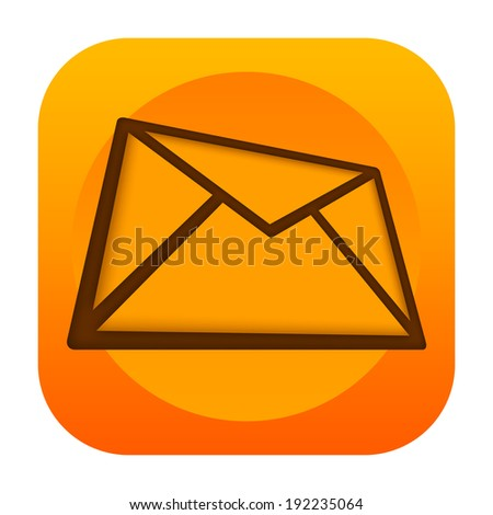 Mail icon - stock photo