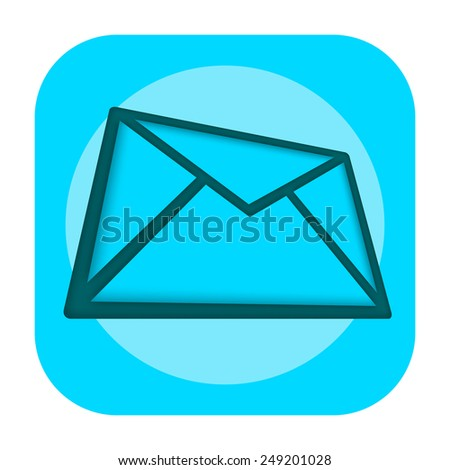 Mail icon - stock photo