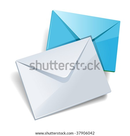 Mail icon isolated.
