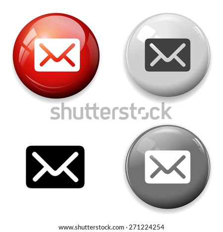 Mail icon. Message sign - stock photo