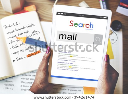 Mail Inbox Message Communication Letter Concept - stock photo