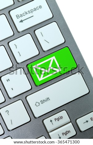 Mail keyboard button on the keyboard - stock photo