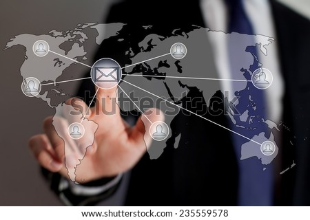 mail list, email marketing concept - stock photo