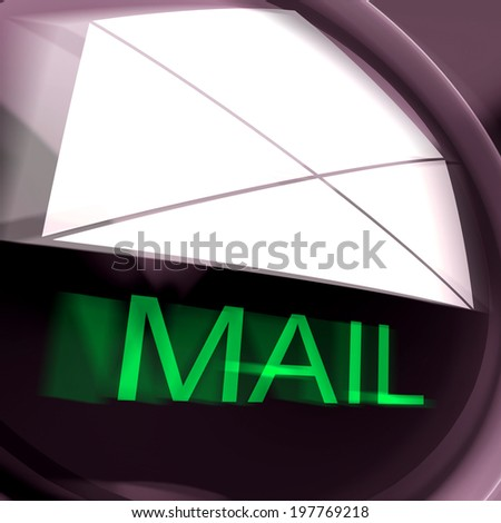 Mail Postage Showing Sending And Receiving Message Or Goods - stock photo
