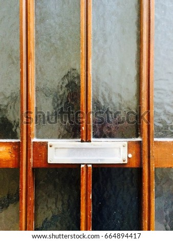 Mail slot on door stock images royalty free images vectors mail slot on wooden glass door planetlyrics Images