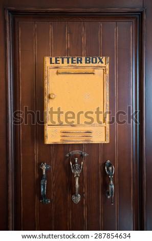 mailbox door - stock photo