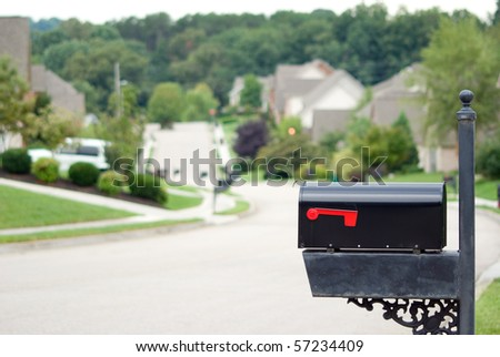 Mailbox in a beautiful neighborhood