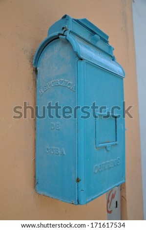 Mailbox in Cuba - stock photo