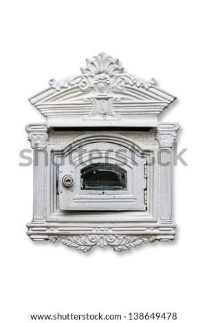 Mailbox isolated on white. - stock photo