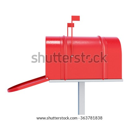 Mailbox isolated on white background. 3d render image - stock photo