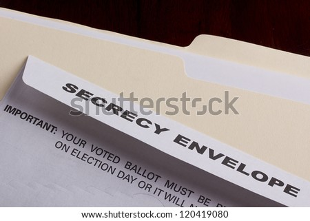 Mailing envelope retain the secrecy. Campaign events.