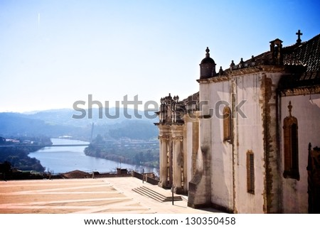 Main buildings of the Coimbra University, Portugal (it was founded in 1290 and it is one of the oldest university of the world) - stock photo
