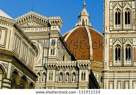 Main church in Florence, Italy - stock photo
