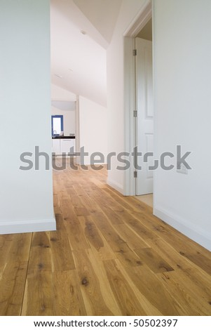 Main corridor or hallway and landing of a large new modern property