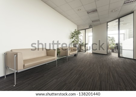 Main hall in a new contemporary office - stock photo