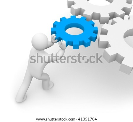 Main part of the mechanism - stock photo