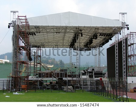 Main stage for concert.