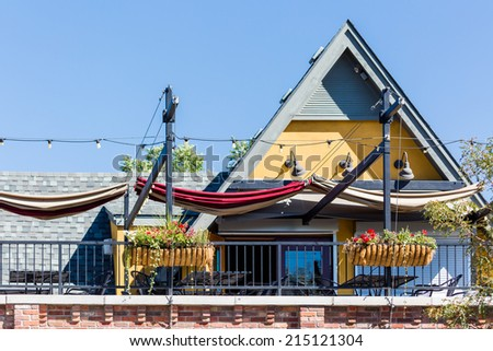 Main street of historic downtown Littleton, Colorado. - stock photo
