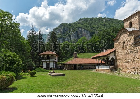 Main view to Poganovo Monastery of St. John the Theologian, Serbia