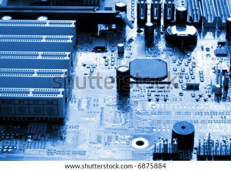 mainboard of a computer - stock photo