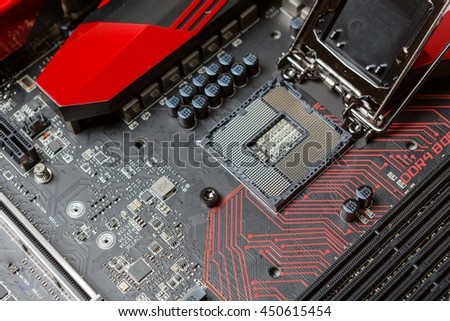 Mainboard with modern interfaces - stock photo