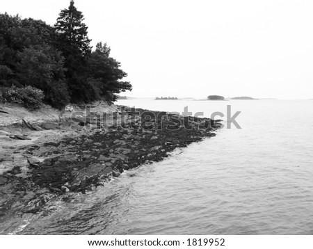 Maine Shoreline - stock photo
