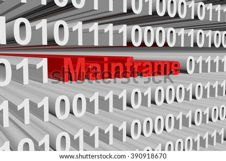 mainframe presented in the form of binary code